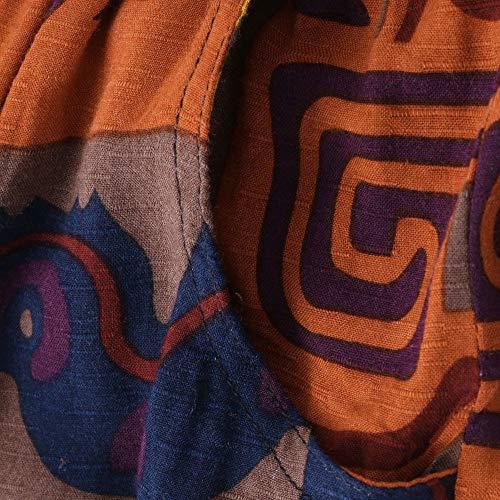 nbsp; Completa Allentati Plus Le Donne Di Kobay Size Dei Tasche Lunghi Print Marino Lunghezza Pantaloni aO7Uq