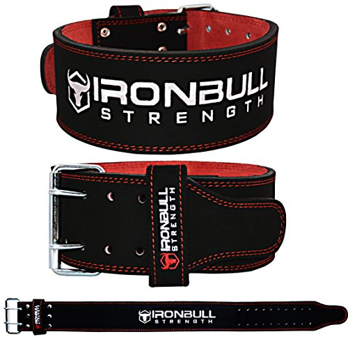 Iron Bull Strength Powerlifting Belt/Weight Lifting Belt - 10mm Double Prong - 4-inch Wide - Advanced Back Support for Weightlifting and Heavy Power Lifting by Iron Bull Strength (Image #2)