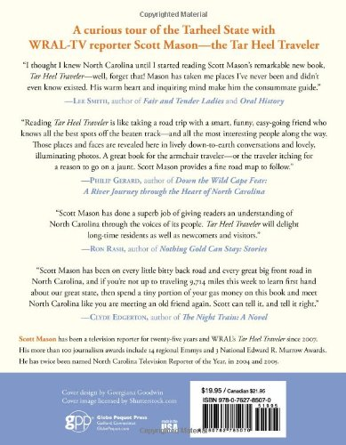Tar Heel Traveler: Journeys Across North Carolina: Scott Mason ...