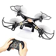 Amazon Lightning Deal 84% claimed: GPTOYS Black Aviax 2.4GHz 6-Axis GYRO RC Quadcopter Drone with Headless Mode, 360-degree 3D Rolling, One Key Return, LED Lights, ABS Materials, DIY, Luxury Gift Box (Color: Black)