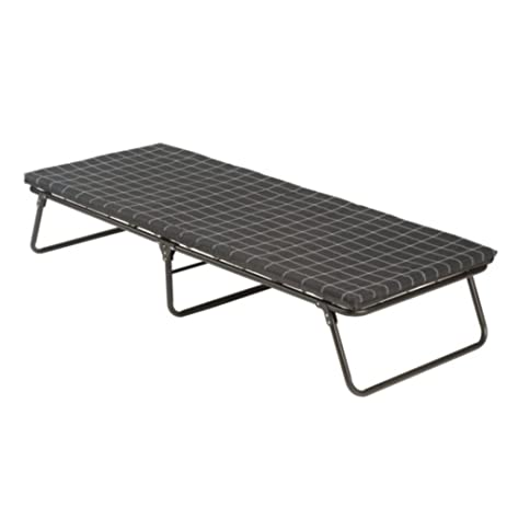Medium image of coleman folding bed with foam mattress pad  u0026 heavy duty steel frame