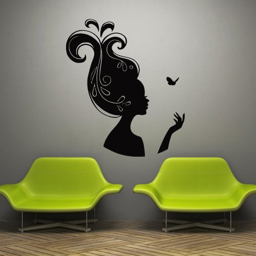 Wall Decal Sticker Vinyl Decor Girl Beauty Salon Hairstyle for sale  Delivered anywhere in USA