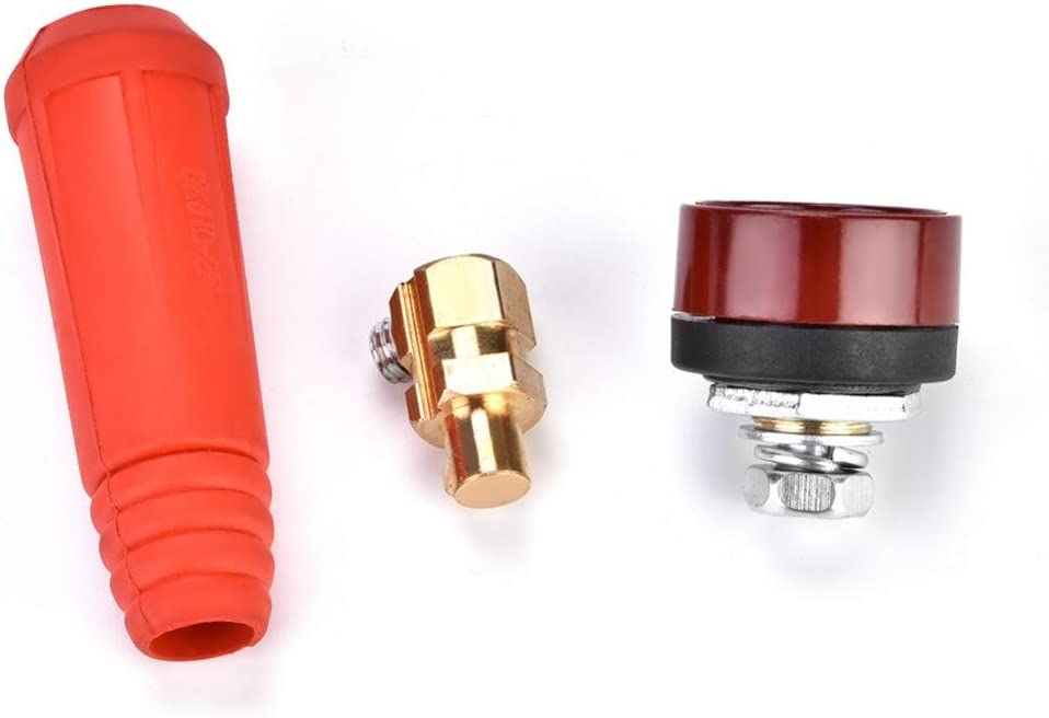 DKJ Series European Style Welding Cable Quick Connector Male Plug and Panel Socket Quick Fitting Adapter DKJ35-50 Black