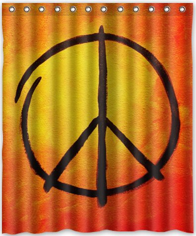 Image Unavailable Not Available For Color Cool Design Peace Sign Shower Curtain