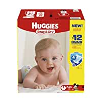Huggies Snug & Dry Diapers, Size 2, 246 Count (One Month Supply) (Packaging may vary)