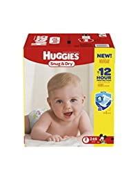 Huggies Snug & Dry Diapers, Size 2, 246 Count (One Month Supply) (Packaging may vary) BOBEBE Online Baby Store From New York to Miami and Los Angeles