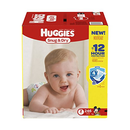 Huggies-Snug-Dry-Diapers-Size-2-246-Count-One-Month-Supply-Packaging-may-vary