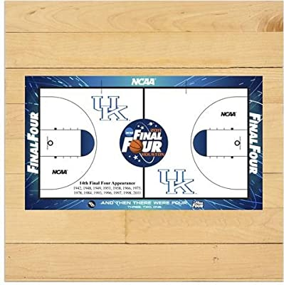 "Kentucky Wildcats 2011 Men's Final Four 6"" x 6"" Game Used Court Piece with Floor logo - Fanatics Authentic Certified"