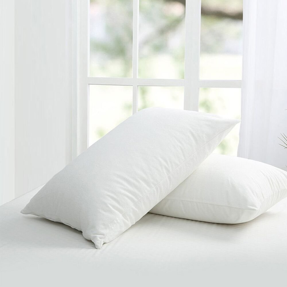 Set of 2 Bedecor Hypoallergenic Bed Bug Proof Zippered Waterproof Pillow Encasement King Size (21'' x 37'')