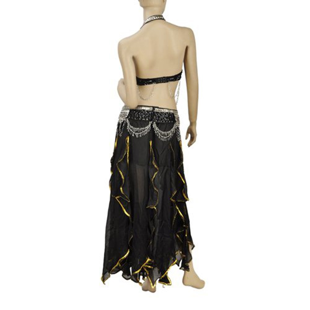 Amazon.com: BellyLady Gypsy negro disfraz de danza del ...