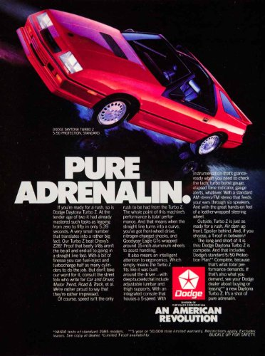 Review 1986 Ad Dodge Daytona