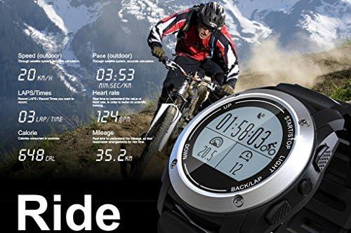 Bluetooth reloj para hombres Smart Watch Mujer Fossil Sistema de satélite – GPS de reloj móvil para niños mujer Mantener Touch + botón 1,1 pulgadas – Hombres Mujer Chica Smartphones Teléfono Móvil [