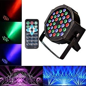 51pqnqdpXPL. SS300  - U'KING PAR Licht mit Fernbedienung 36 LED Scheinwerfer Bühnenbeleuchtung DMX512 RGBW Lichteffekt Partylicht mit Fernbedienung