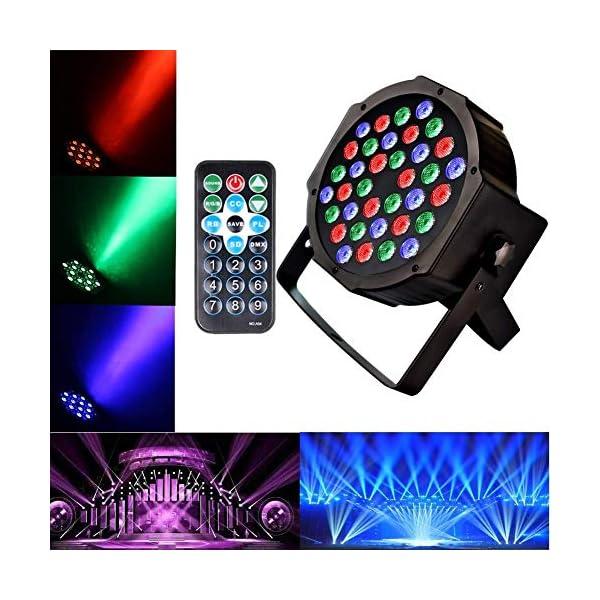 51pqnqdpXPL. SS600 - U'KING PAR Licht mit Fernbedienung 36 LED Scheinwerfer Bühnenbeleuchtung DMX512 RGBW Lichteffekt Partylicht mit Fernbedienung