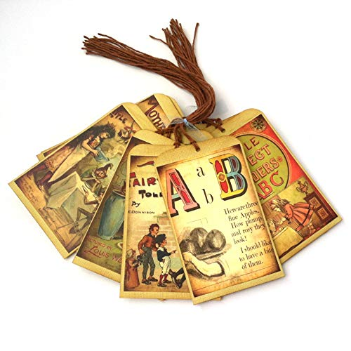 - Mother Goose Fairy Tales Children Storybook Favor Tags - Baby Shower Hang Gift Tags - Set of 9