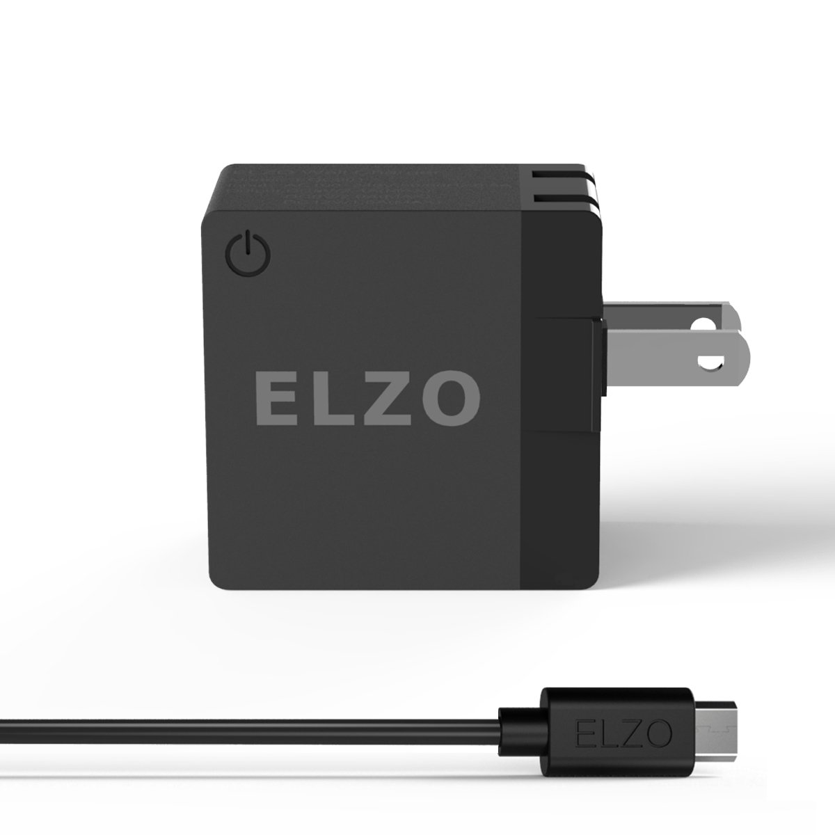 Elzo Quick Charge 2.0 18W USB Wall Charger Fast Charger With A 3.3ft Quick Charge Micro USB Cable For Samsung Galaxy/Note, LG Flex2/V10/G4, Google Nexus 6, Motorola Droid/X, Sony Xperia, HTC Desire Eye, ASUS ZenFone2, Android Devices 31WC-QC2-1BE