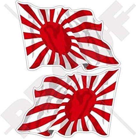 Soleil Levant Drapeau Autocollant Petit Grande Taille Décalque Jdm Japon 50mm