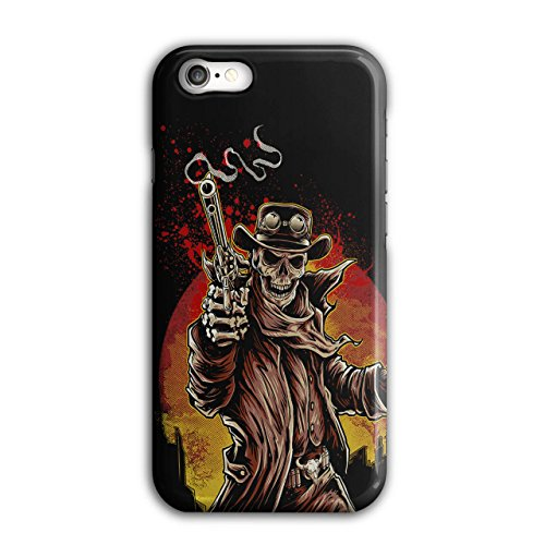 [Skull Sheriff Horror Gun Shot NEW Black 3D iPhone 7 Case | Wellcoda] (Quick Costume Ideas For Work)