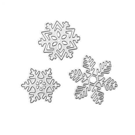 Longsw Navidad Copo De Nieve De Troqueles Embossing Paper Stencil Scrapbooking Card Home Decor