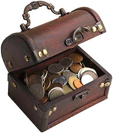 IMPACTO COLECCIONABLES Monedas de Coleccion - 1 Kilo de Monedas + Cofre de Madera