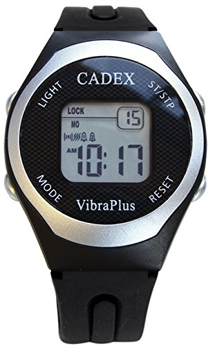 Cadex | VibraPlus SPORT | Alarm Watch with 8 Vibrating and Audible/Sounding Alarms | Rubber Sport Strap