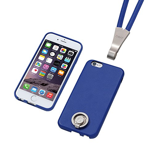 Deff Special PU Leather Ring Type Case and Stand for iPhone 6 (Blue)