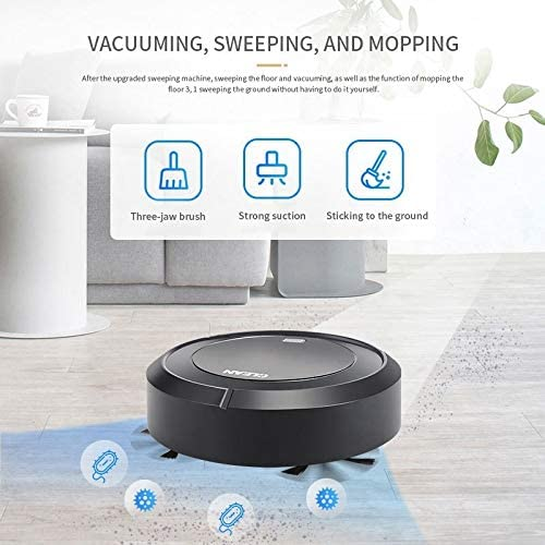 LSXLSD USB Automatique Cleaner Robot Aspirateur Balayer Charge Household Cleaner sans Fil sans Fil vacum Robots aspirateur Intelligent Tapis (Color : White) Black