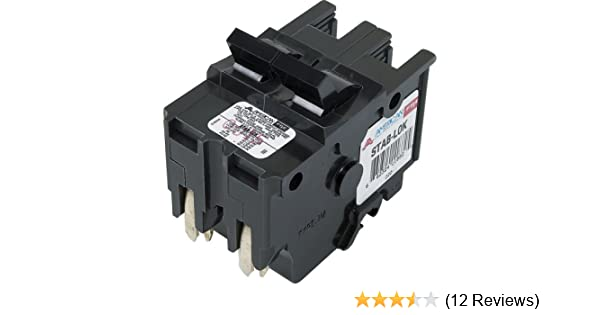 """50 Amp FEDERAL PACIFIC  FPE Stab-Lok 50A 240V  2/"""" Wide Double or 2 Pole Breaker"""