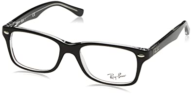 3537f28604 Ray Ban Junior RY1531 Eyeglasses-3529 Top Black On Transparent-46mm