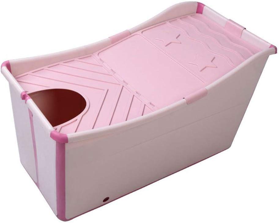 Gweat Kids Portable Ba/ñera Plegable Piscina Grande Independiente Ba/ñera de Esquina Balde de ba/ño para Adultos//Adultos Mayores Aumento Rosa//Azul Largo Tiempo de Aislamiento con Cubierta