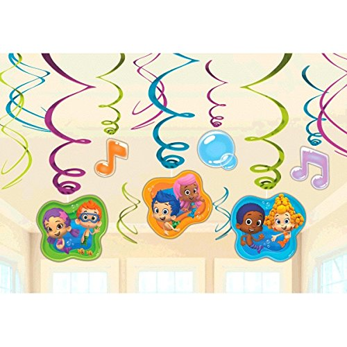 Bubble Guppies Foil Swirl Hanging Decorations