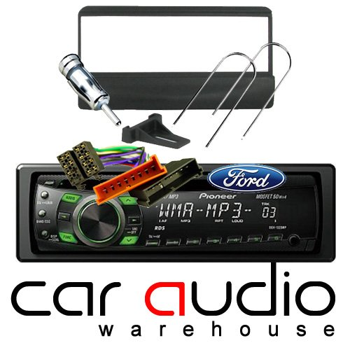 FORD FIESTA - ESCORT - TRANSIT COMPLETE STEREO FITTING KIT AND PIONEER CAR STEREO - Includes a Pioneer MP3 Player, Black Facia Adapter, Removal Keys, Aerial Adapter and ISO wiring harness.: Amazon.co.uk: Electronics