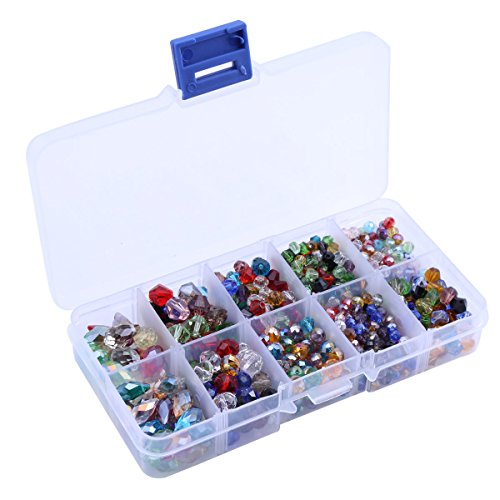 Crystal Beads Sets Mixed Glass Bead for Jewelry Making Loose Beads in Bulk with Box Wholesale Beads (Type3) -
