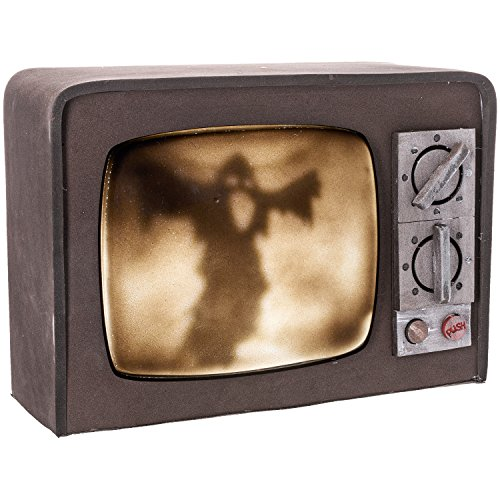 [Prextex Broken Terror Television with Lights and Sound Best Halloween Haunted House Prop Décor] (Halloween Prop)