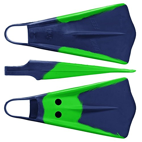 (Voit Duck Feet Swim Fins, Medium, Green/Blue)