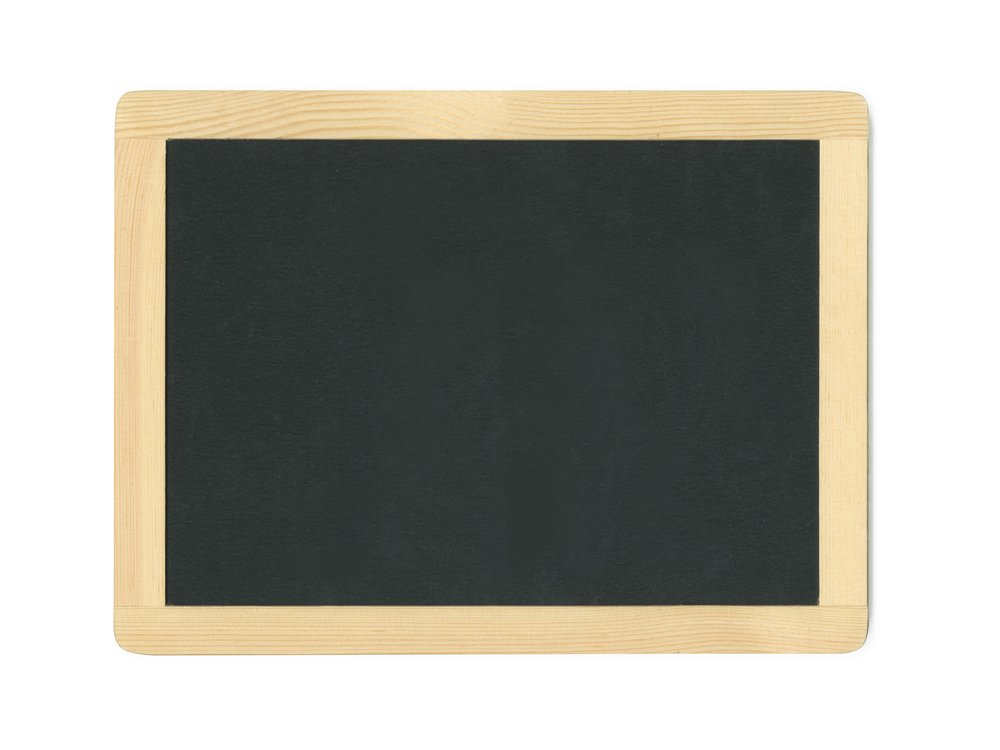 Multicraft Imports Framed Chalkboard with Metal Hooks, 11.5 by 8.75''