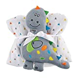Stephan Baby Super-Soft Fleece Crib Blanket and Plush Toy Set, Dinosaur