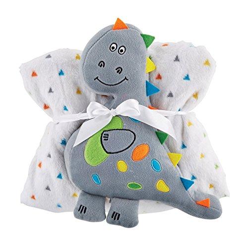 Stephan Baby Snuggle Fleece Crib Blanket and Plush Toy Set, Dinosaur -  Christian Brands., 120386