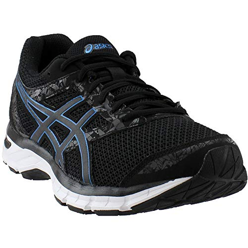 (ASICS Men's Gel-Excite 4 Running Shoe, Black/Race Blue, 9.5 M US)