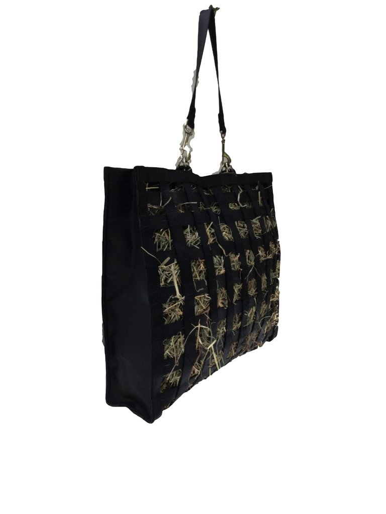 The Original NibbleNet Picnic w/ 1.5'' Slow Feed Hay Bag by Thin Air Canvas, Inc. = Black by The Original NibbleNet