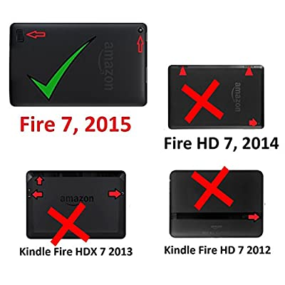 """Amazon Fire 7"""" 2015 Case, EpicGadget(TM) 5th Generation Fire 7 Heavy Duty Hybrid Case Full Protection Cover with Kickstand For Fire 7 inch Display + Screen Protector and 1 Stylus (US Seller)"""