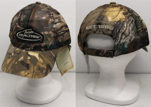Team Realtree Camo (Team Realtree Black Logo Est. 1986 Adjustable Camo Slouch Cap / Hat)