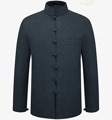 Tang Suit National Costume Retro Jackets Coats Men's dress Full dress Gentleman by BAOLUO-Tang Suit (Image #2)