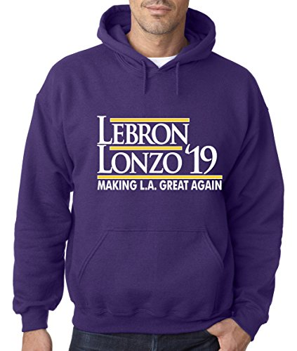 "e631ed6ccd47 WB SHIRTS Purple Los Angeles Lebron Lebron Lonzo 19″"" Hooded Sweatshirt"