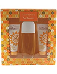 SUNFLOWERS - Elizabeth Arden SET(EDT SPR 3.3+B/L 3.3oz+HYDRATING C/CLEANSER)
