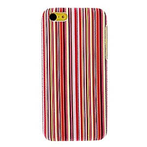SUMCOM Colorful Stripes Pattern PC Hard Case for iPhone 5C (Assorted Colors) , Red