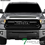 2014 tundra grill - Topline Autopart Glossy Black TR-D Style Front Hood Bumper Grill Grille ABS For 14-18 Toyota Tundra
