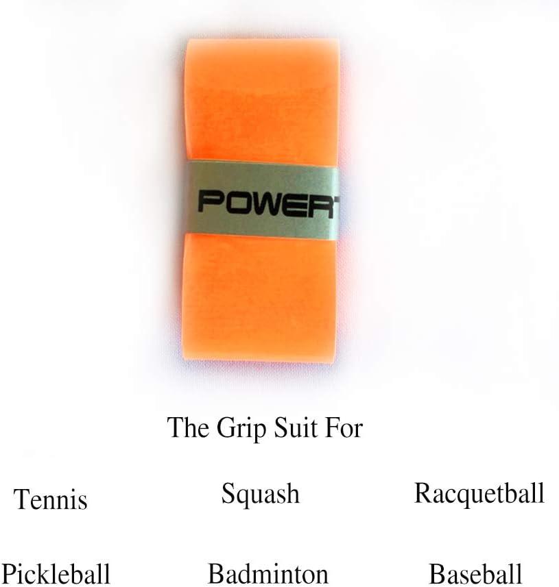 Racquetball Badminton Blue Colour powerti Tennis Racket Grip Tape Overgrip Tacky Overgrip Wrap for Squash Racket Baseball Bat 12 Piece Per Pack Pickleball Paddle