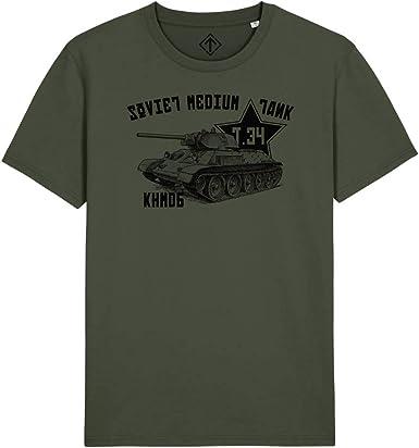 WARTSHIRT Camiseta del carro armado Unión Soviética T34 ...