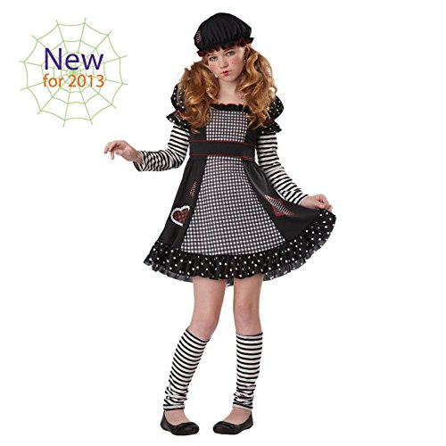 Totally Ghoul Gothic Doll Costume, Girl's Size Medium, Fits Ages 8-14 for $<!--$18.99-->
